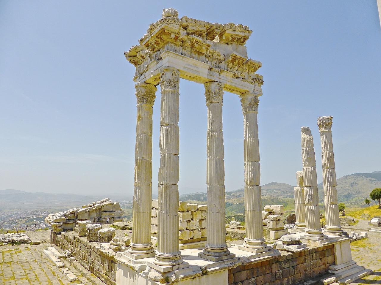 roman ruins columns turkey
